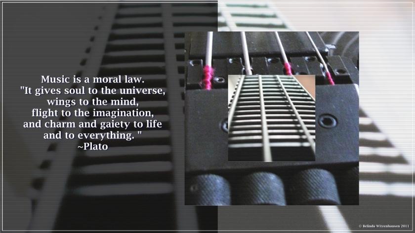 Bass Guitar Wallpaper~Quote Plato