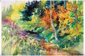 "Fire In The Water Kathy Delumpa Allegri February Featured Artist — Affordable Art ... http://galrimontaj.wordpress.com/2013/01/28/new-affordable-art-from-galrimontaj/21 x 14"", watercolor $455"